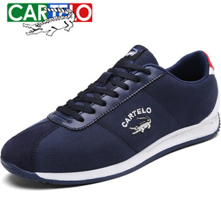 CARTELO 卡帝乐鳄鱼 KDL2651 男士板鞋阿甘鞋 蓝色-布面 44