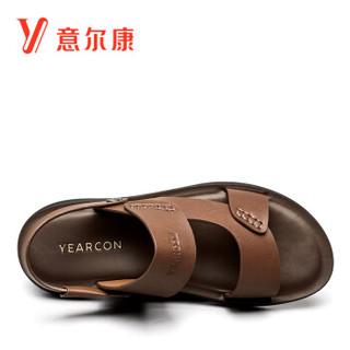 YEARCON 意尔康 8342ZS68752W 男士沙滩凉鞋 棕色 38