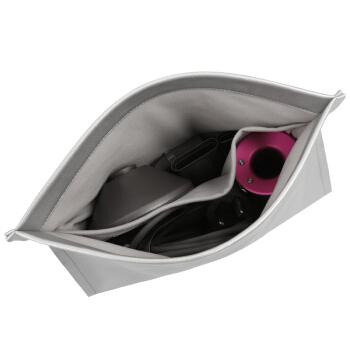 BUBM Dyson戴森Airwrap网红卷发棒专用收纳包8件套配件便携包吹风机HD01收纳袋旅行  CFJ银灰色