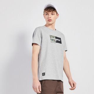 Semir 森马 19048001269 男士短袖T恤 中花灰 XL