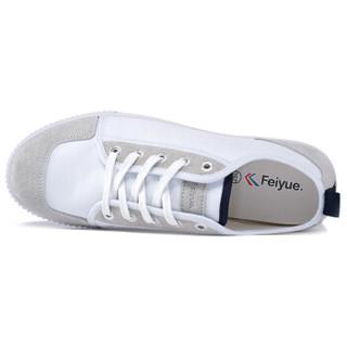 FEI YUE 飞跃 8111 中性低帮帆布鞋 白色 41