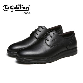 goldlion 金利来 596740075ADA 男士商务休闲皮鞋 黑色 38