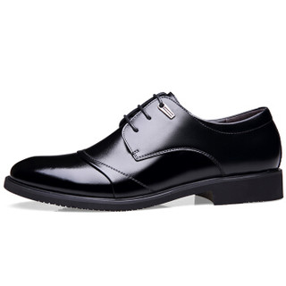 CARTELO 卡帝乐鳄鱼 2513 男士增高正装皮鞋 黑色 40