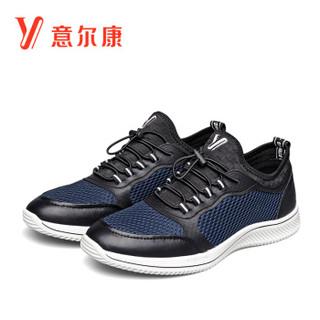 YEARCON 意尔康 8412FX88412W 男士网面跑步鞋 深蓝 43