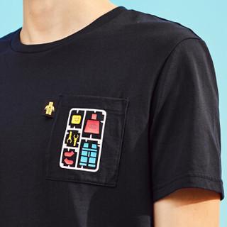 A21 4821330142 男士印花短袖T恤 宝蓝 XL