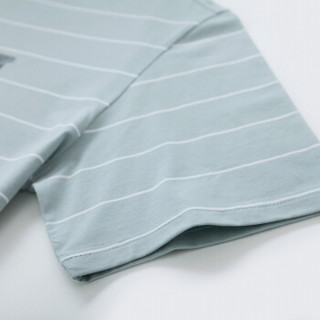 Semir 森马 19048001219 男士圆领T恤 绿白色调 XXXL