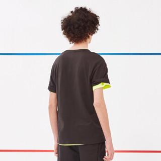 A21 4821330209 男士宽松圆领印花短袖T恤 黑色 XL