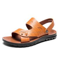 AOKANG 奥康 183730060 男士沙滩凉鞋 黄棕 40