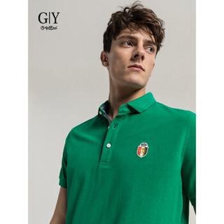 goldlion 金利来 TS0H049-G1107 男士短袖Polo衫 绿色 M