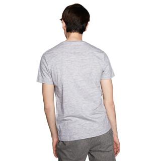 HLA 海澜之家 HNTBJ2V056A 男士短袖T恤 浅灰 48