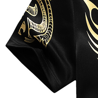 CARTELO 18127KE801 男士运动短袖套装 黑色 2XL