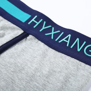 恒源祥 H027A 男士中腰平角内裤 4条混色装 时尚运动A款 180(XXL)