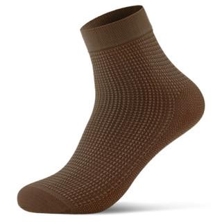 恒源祥 薄款冰爽丝袜男士袜子 千格鸟男袜 深色8双装C154905