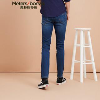 Meters bonwe 美特斯邦威 602050 男士牛仔裤 中蓝 175/80A