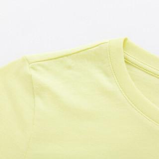 Semir 森马 12216000004 女士短袖T恤 黄色 M