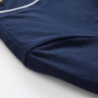 Semir 森马 19048001296 男士圆领短袖T恤 宝蓝 L