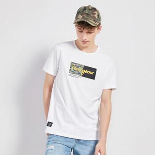 Semir 森马 19048001269 男士短袖T恤 漂白 XXXL