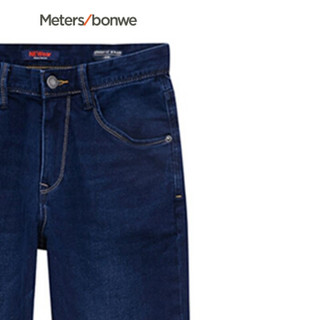 Meters bonwe 美特斯邦威 756254 男士五袋常年牛仔长裤 牛仔深蓝 195/104