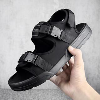 CARTELO 卡帝乐鳄鱼 3313 男士透气网面凉鞋 黑色 40