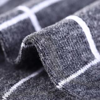 恒源祥 袜子男 纯棉船袜男低帮运动隐形袜浅口短筒棉短袜100%棉时尚格子袜 时尚格叁 均码