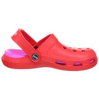 WARRIOR 回力 035 情侣款包头凉拖鞋 红色女款 37
