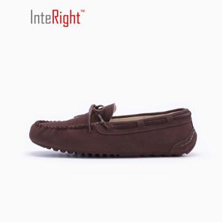 InteRight 男士豆豆鞋 (41、咖啡色)