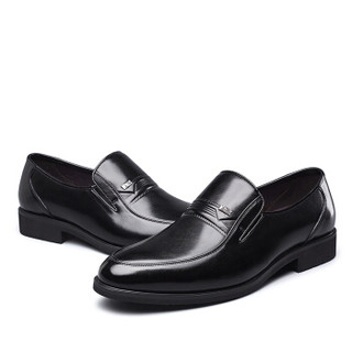 YEARCON 意尔康 7101ZR97929W 男士商务正装皮鞋 黑色 38