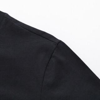 Semir 森马 19048001212 男士印花短袖T恤 黑色 L