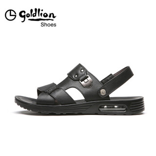 goldlion 金利来 596720081AQF 男士沙滩凉鞋 黑色 40