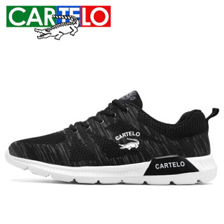 CARTELO 卡帝乐鳄鱼 KDL2602 男士跑步运动鞋 KDL2602 黑色 39