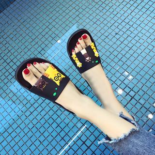 Langsha 浪莎 2117 男女士防滑凉拖鞋 (40-41、黑色)