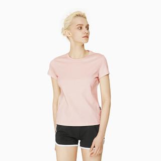 InteRight 6099835 女士水柔棉圆领短袖T恤 浅粉色 XL