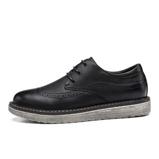 Semir 森马 817319611 男士布洛克英伦皮鞋 黑色 41