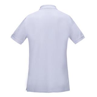 BURBERRY 巴宝莉 男士白色棉质格纹开襟POLO衫 39559941 XL