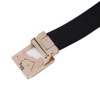 VERSACE 范思哲 V910229 VM00363 V000H 男士皮革板扣皮带 黑色 120