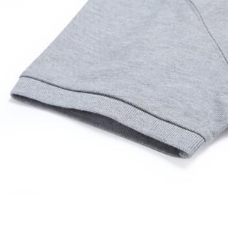 INTERIGHT【京东质造】 50支棉质双珠地免烫男士商务休闲POLO衫 花灰色M码