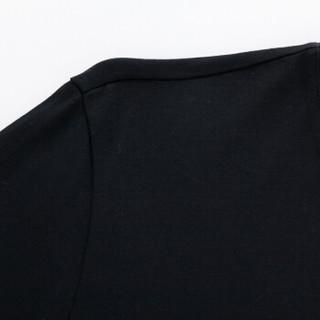Semir 森马 19416011202 男士印花长袖打底衫 黑色 XL
