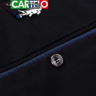 CARTELO 卡帝乐鳄鱼 618 男士休闲长裤 黑色 30