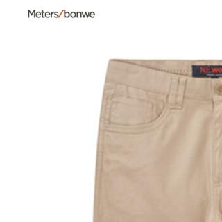 Meters bonwe 美特斯邦威 753322 男士肌理面料梭织长裤 檀香棕 165/68