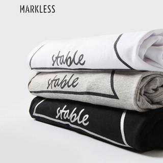 Markless TXA7662M 男士圆领短袖T恤 灰色 M