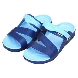 WARRIOR 回力 076 情侣沙滩防滑两用拖鞋 蓝 40