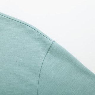 Semir 森马 19048001298 男士圆领短袖T恤 粉绿 XL