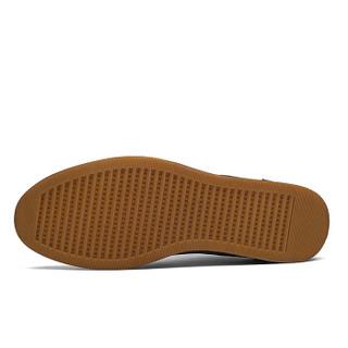 CARTELO 卡帝乐鳄鱼 CA6680 男士复古擦色皮鞋 红棕色 39