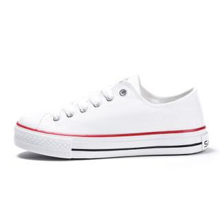 Semir 森马 19316412028 中性帆布鞋 白色 37