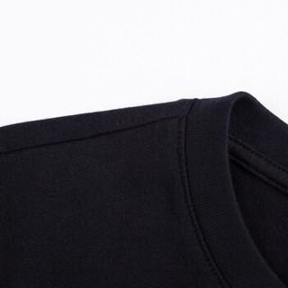 Semir 森马 12216000005 女士短袖T恤 黑色 L