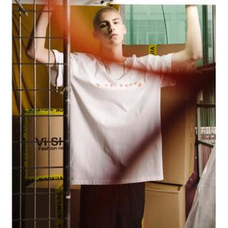 ViiSHOW TD1517182 男士印花圆领短袖T恤 白色 XL