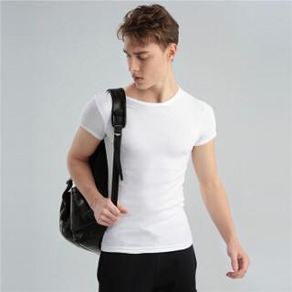 GIORDANO 佐丹奴 01242011 男士棉质T恤 两件装 白/灰 175/100A