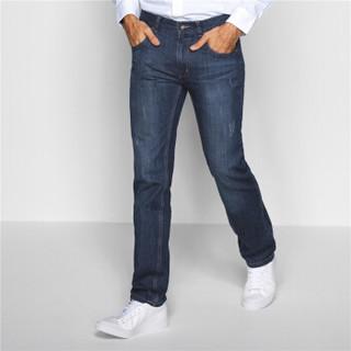 GIORDANO 佐丹奴 01116037 男士修身牛仔长裤 中蓝色 32