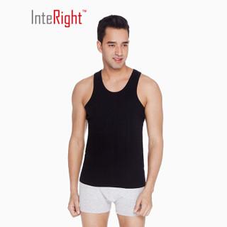 InteRight 5995629 男士全棉罗纹弹力背心2条装 黑色+白色 XXL