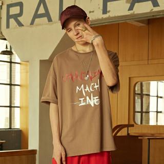 viishow 威秀 TD1245182 男士圆领短袖T恤 咖啡色 XL
